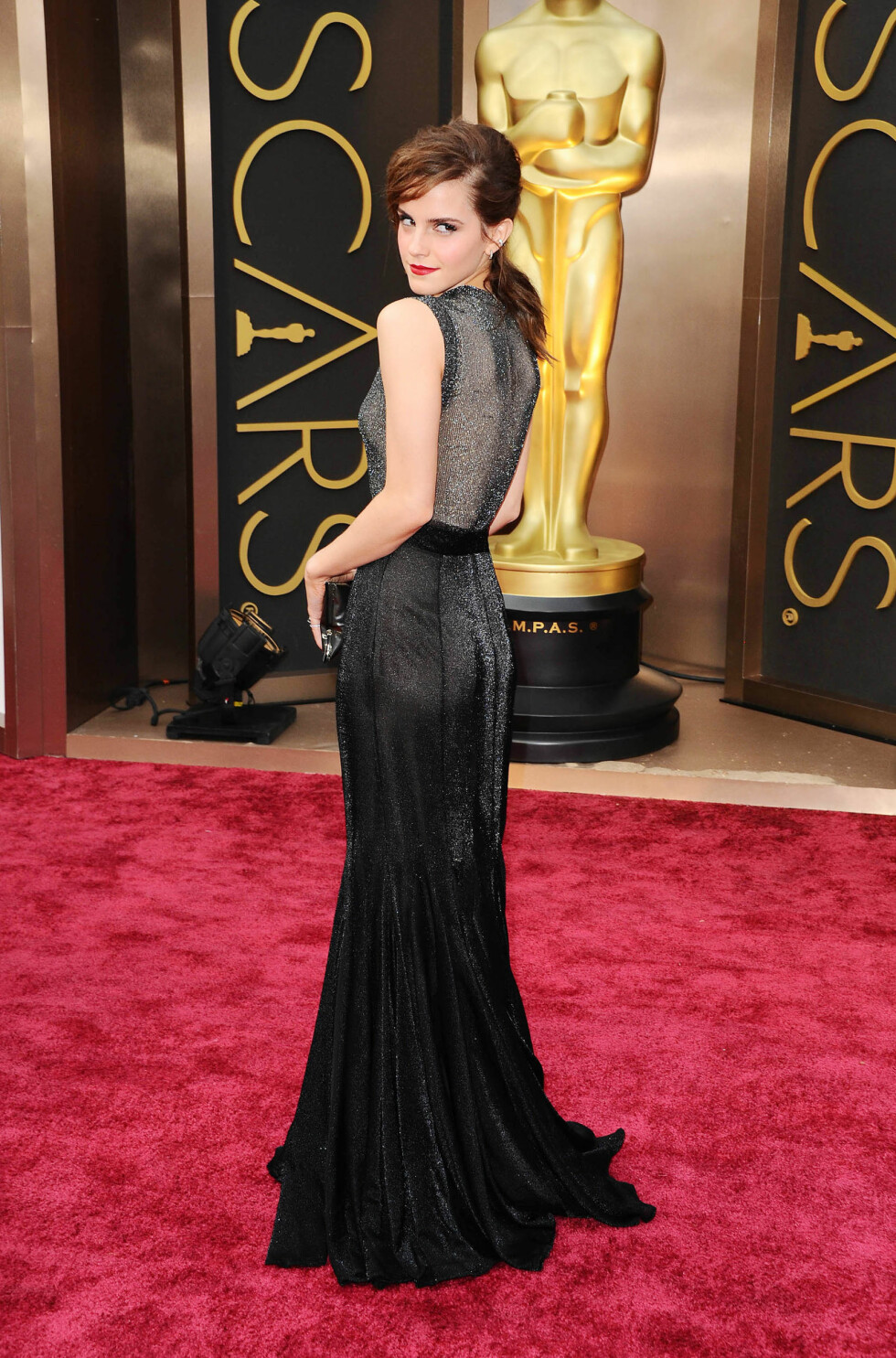 Emma Watson i kjole fra Vera Wang. Foto: All Over Press