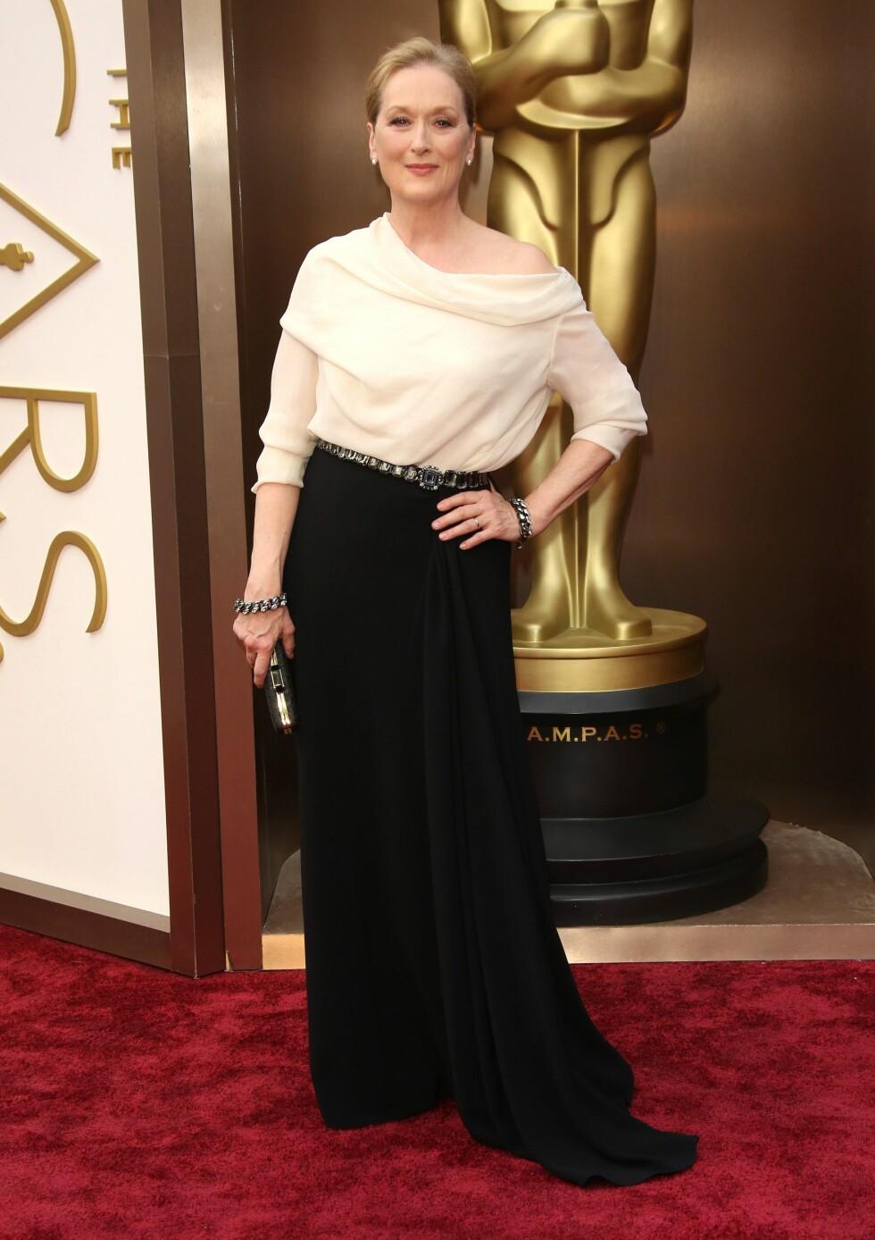 Meryl Streep i kjole fra Lanvin. Foto: All Over Press