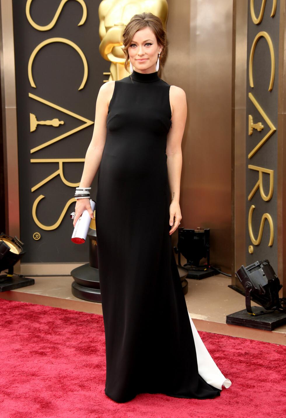 Olivia Wilde  i kjole fra Valentino. Foto: All Over Press
