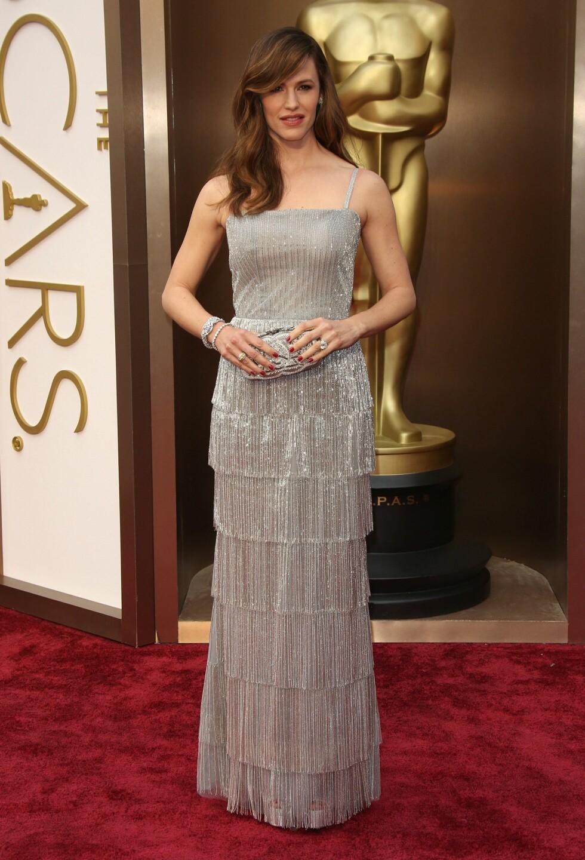 Jennifer Garner i kjole fra Oscar de la Renta. Foto: All Over Press