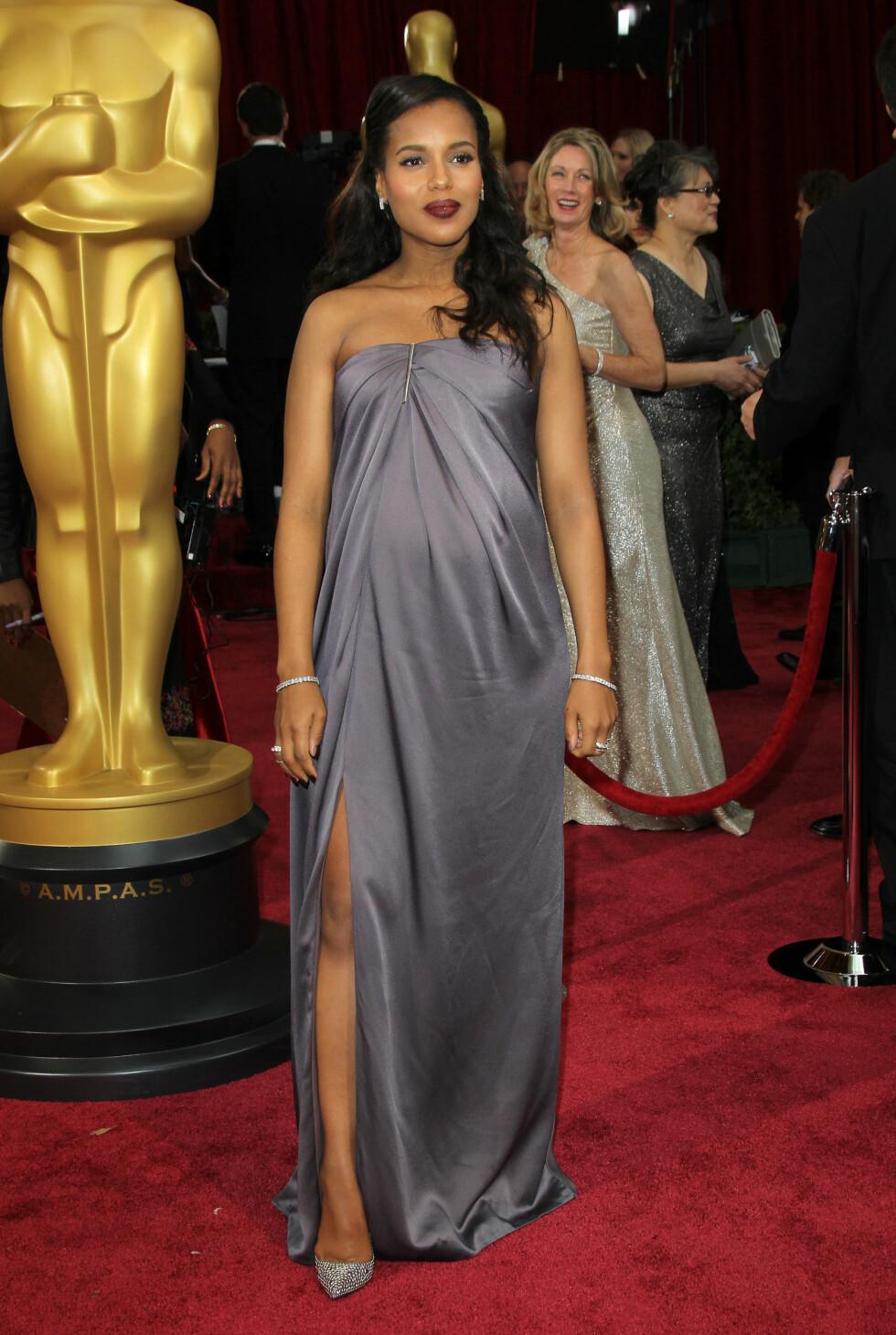 Kerry Washington i kjole fra Jason Wu. Foto: All Over Press