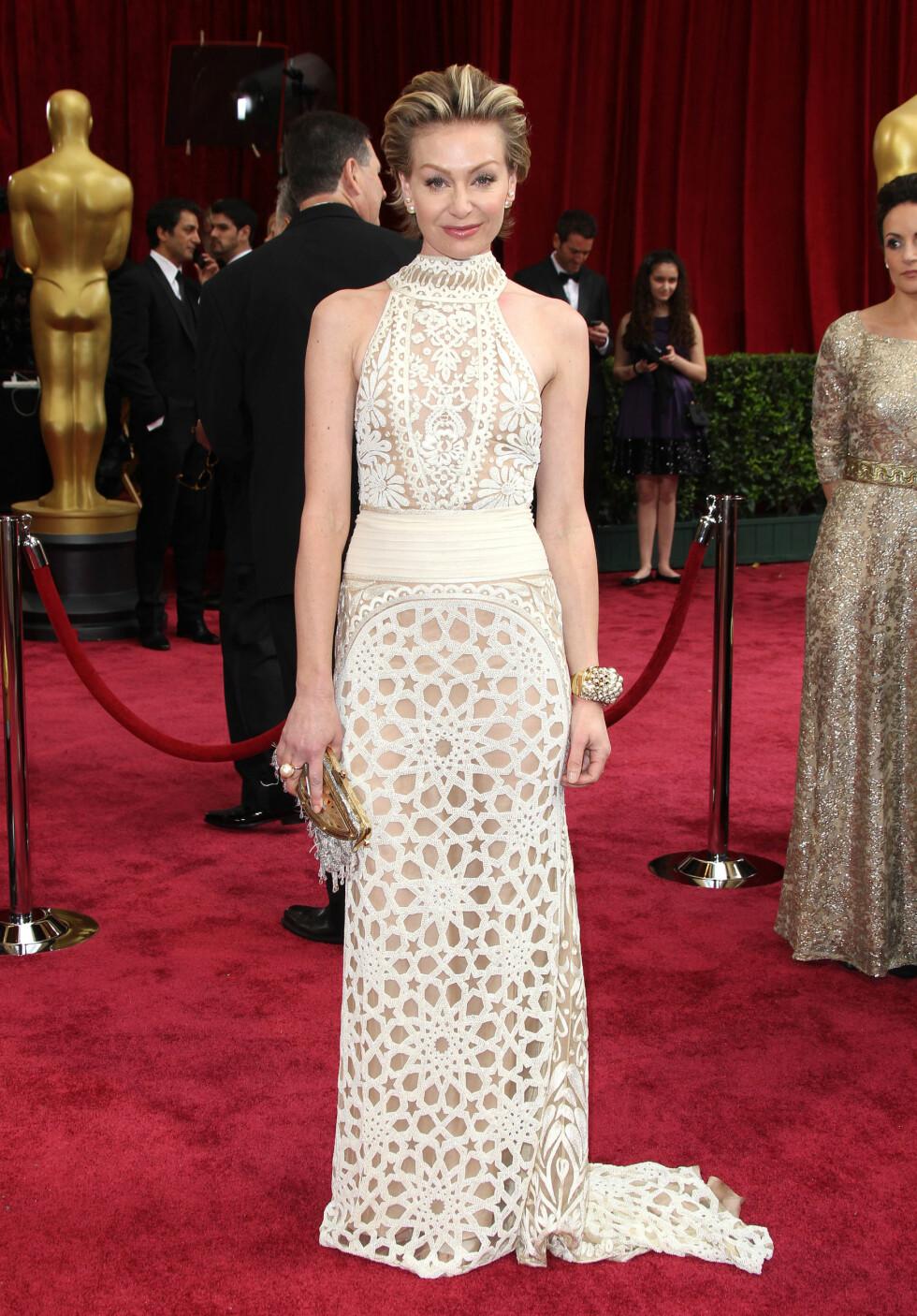 Portia de Rossi i kjole fra Naeem Khan. Foto: All Over Press