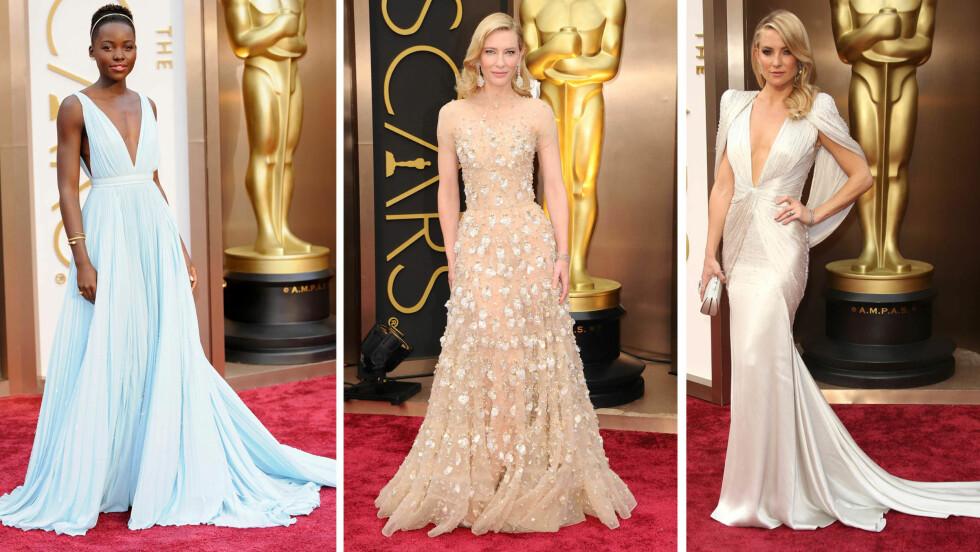OSCAR 2014: - Lupita Nyong'o, Cate Blanchett og Kate Hudson var tre av kveldens best kledde, sier KKs moteredaktør, Silje Pedersen. Foto: All Over Press