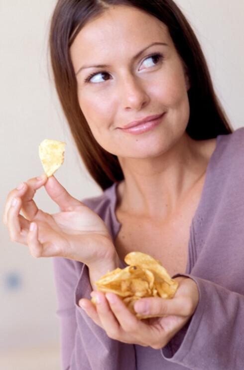 METTET FETT: Potetgull er blant matvarene som kan inneholde en del mettet fett.  Foto: www.imagesource.com