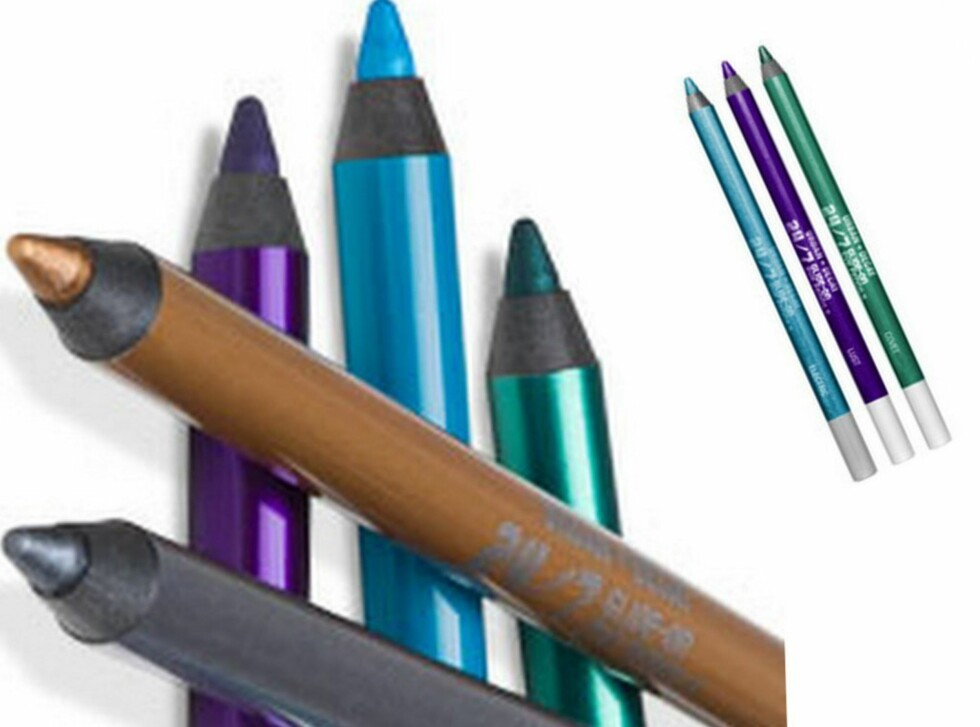 Urban Decay 24/7 Glide On Eye Pencil finnes i mange herlige farger, er myk og fin å påføre og kan også brukes på våtkanten. Selges ikke i Norge, men kan bestilles fra bl.a. LookFantastic.com, ca. kr 108. Foto: Produsenten