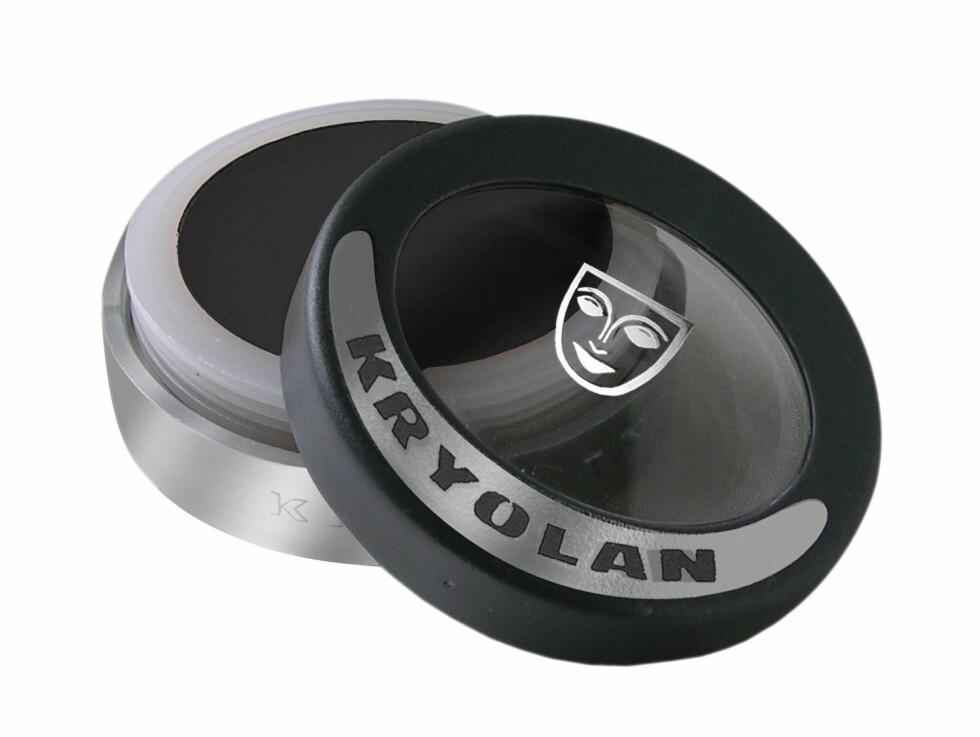 Kryolan Cake Eyeliner er en annen variant av samme typen, og også den er svært enkel å bruke og gir et flott resultat. Tilgjengelig fra bl.a. Visage, kr 80. Foto: Produsenten