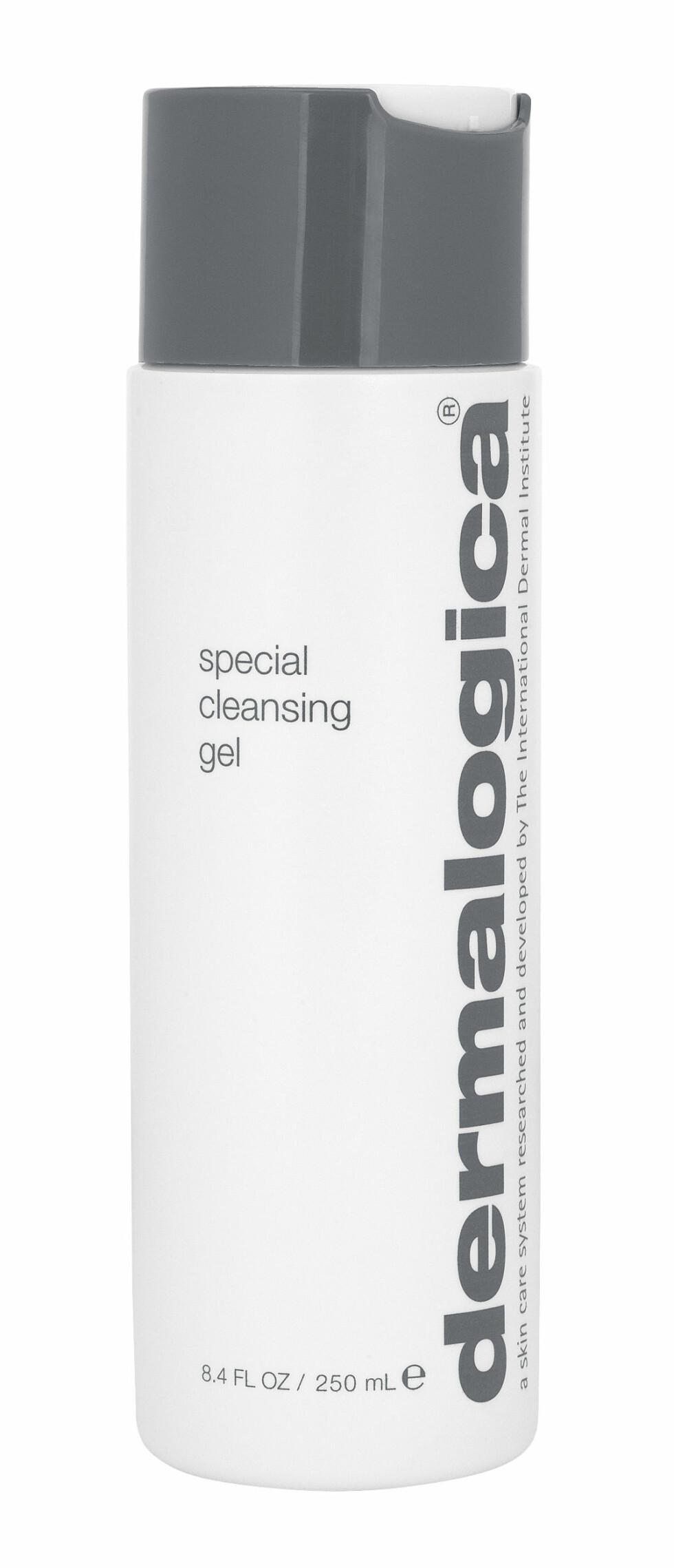 Special Cleansing Gel fra Dermalogica er en såpefri rensegelé som skummer vekk urenheter uten å tørke ut huden. Passer for deg med normal eller kombinasjonshud, altså om du har litt tørrere kinn og fetere T-sone, kr 350. Foto: Produsenten