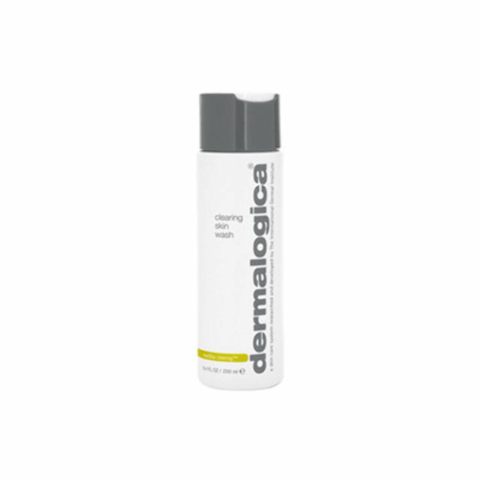 Clearing Skin Wash fra Dermalogica er et naturlig skummende renseprodukt for å kontrollere utbrudd, tilstoppninger og overflødig talg, kr 395.  Foto: Produsenten