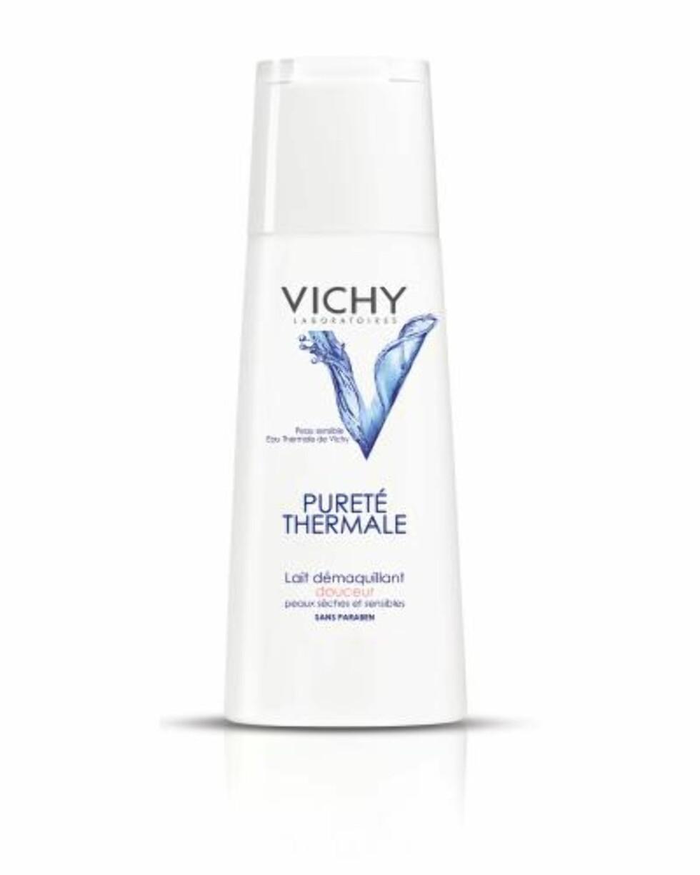 Purete Thermale rensemelk fra Vichy er en mild og effektiv rensemelk for deg med tørr hud, kr 159. Foto: Produsenten