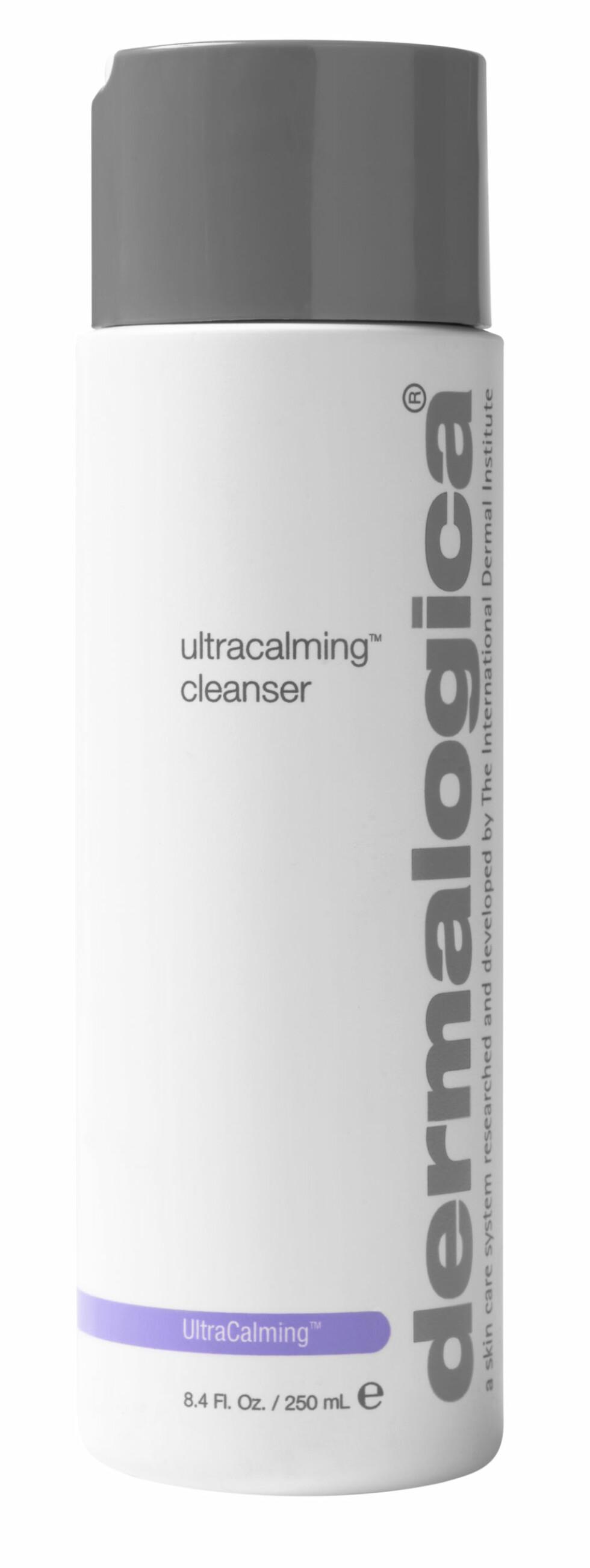 Ultracalming Cleanser fra Dermalogica er en mild og rensende gelé/krem, som vaskes av med vann eller fuktig bomullspad eller klut. Passer for deg med sensitiv og irritert hud, da den har milde og beroligende ingredienser, kr 375. Foto: Produsenten