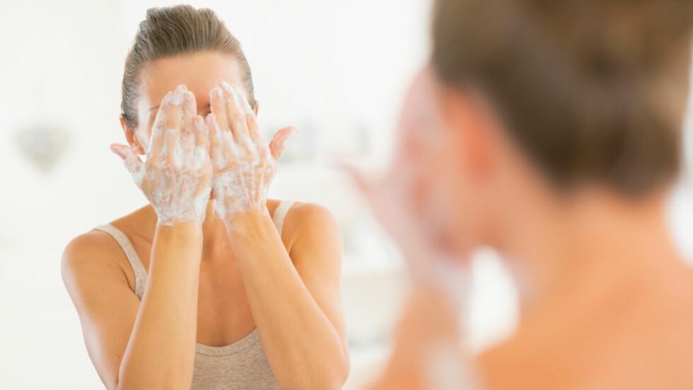 HUDTYPEN AVGJØR: Når du vet hvilken hudtype du har, blir det også enklere å finne fram i jungelen av renseprodukter. Foto: Alliance - Fotolia