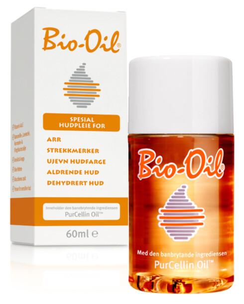 LETT OLJE: Bio-Oil selges hos Vita og koster kr 119. Foto: Produsenten