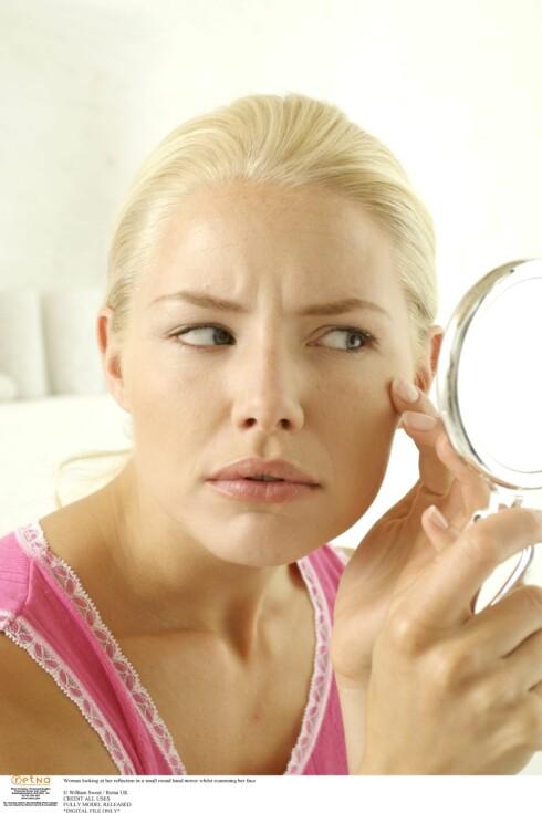 PASS PÅ: Ikke vent til rynkene kommer med å bry deg om huden din. Spis sunt, stump røyken, drikk mindre og bruk solkrem FØR rynkene kommer.  Foto: Colourbox