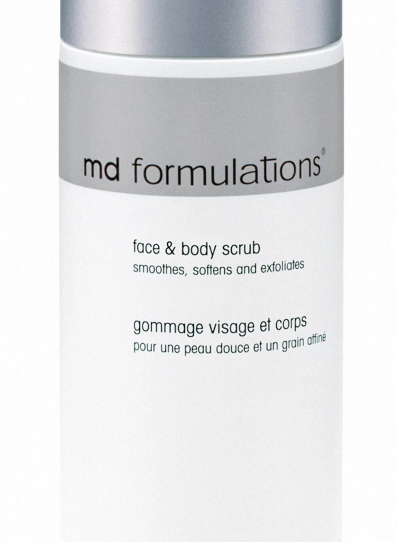 Effektiv peeling med både peelingkorn og 15 prosent glykolsyre. Face & Body Scrub fra MD Formulations, kr 649. Foto: Produsenten