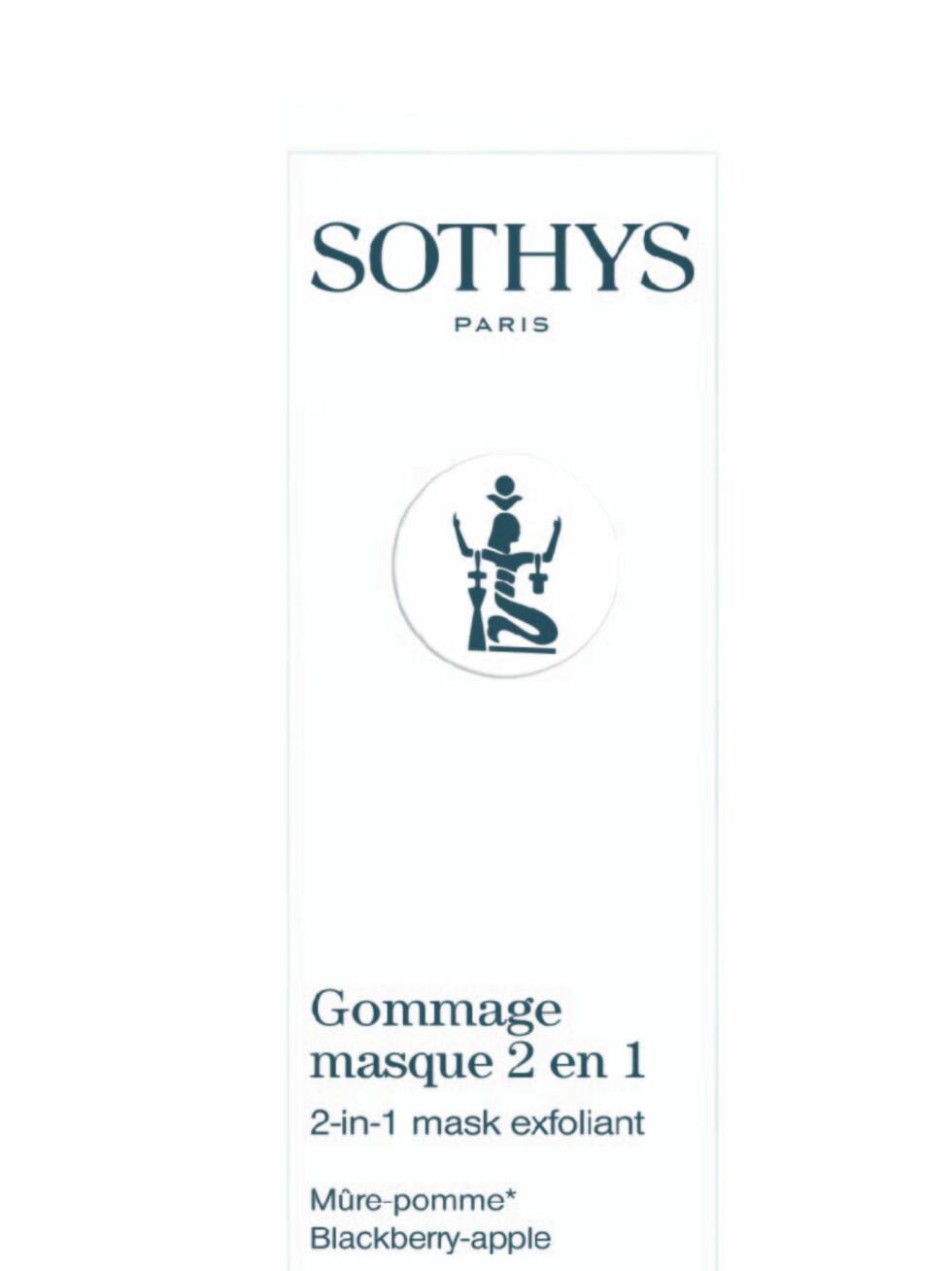 Skrubb og maske i ett, inneholder små korn. 2-in-1 Scrub & Mask -  Limited Editionfra Sothys, kr 299. Foto: Produsenten