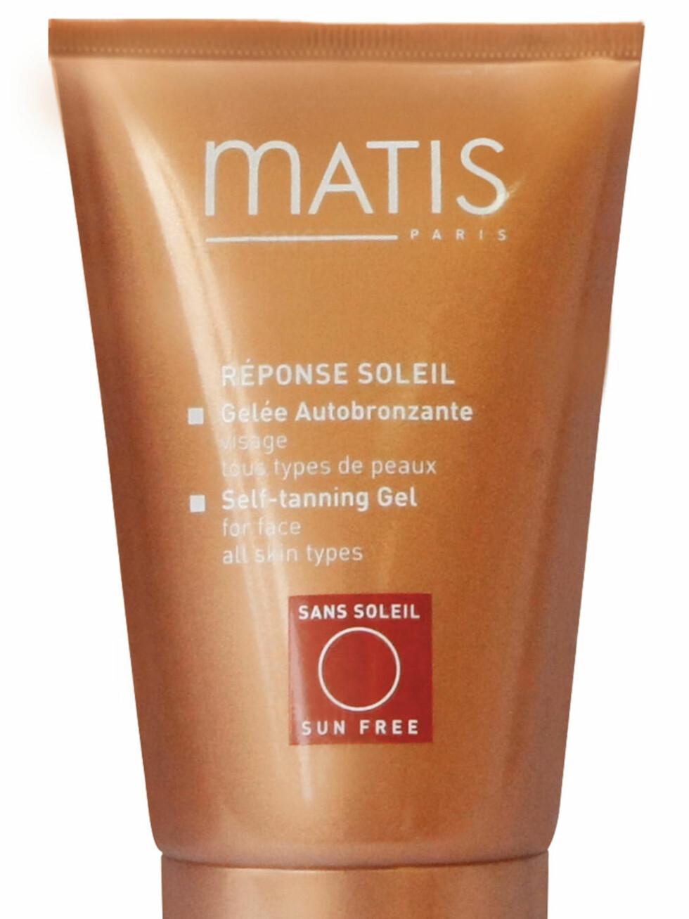 Self-Tanning Gel for face fra Matis, kr 339. Foto: Produsenten