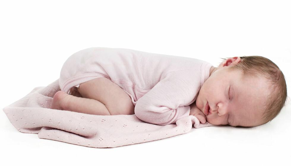 BABYTEPPE: Teppet fra Lillelam er laget i myk merionull som hverken klør eller loer. Foto: Produsenten.