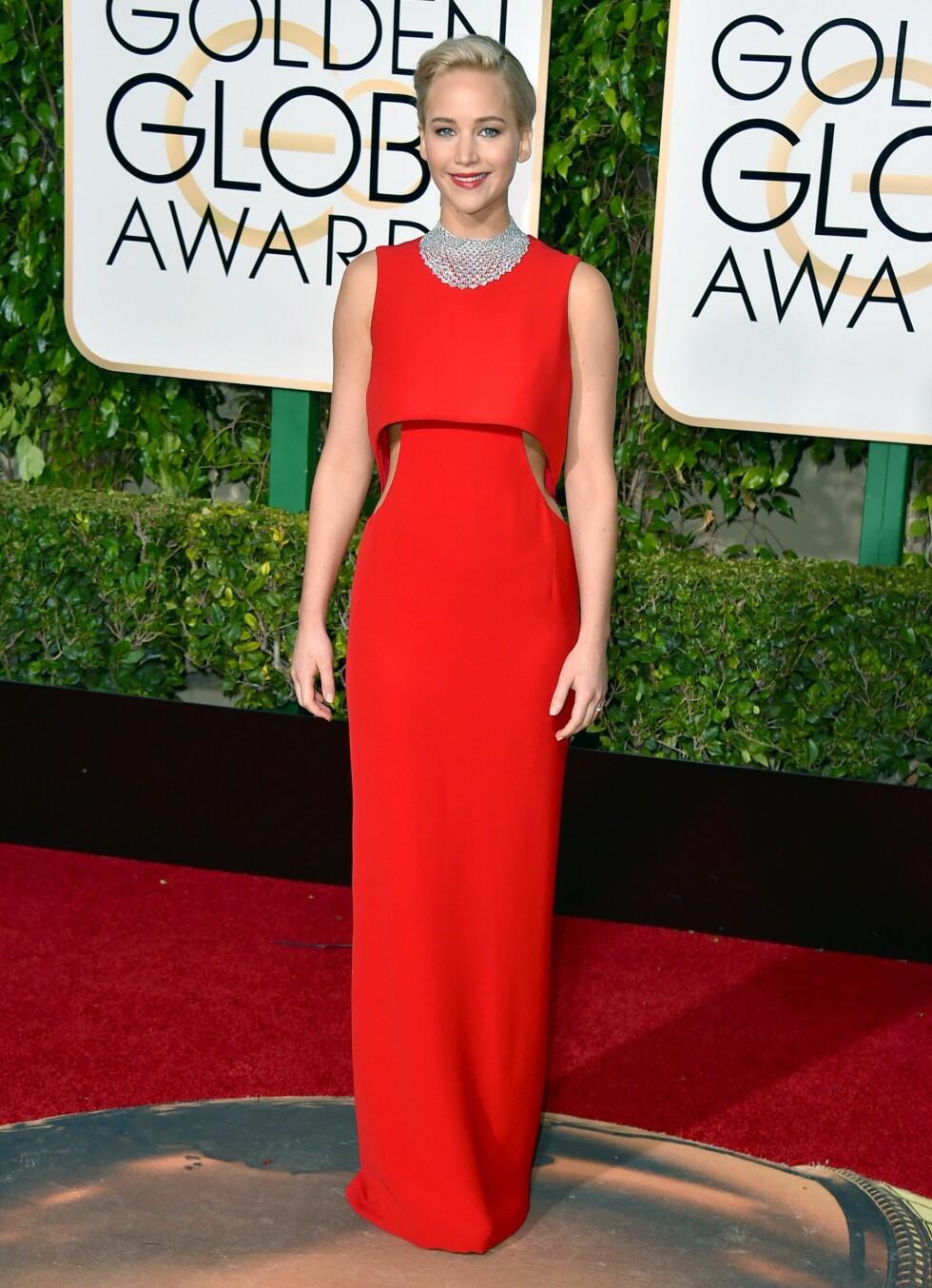 BEST KLEDD: Jennifer Lawrence i 2016 Foto: INVISION