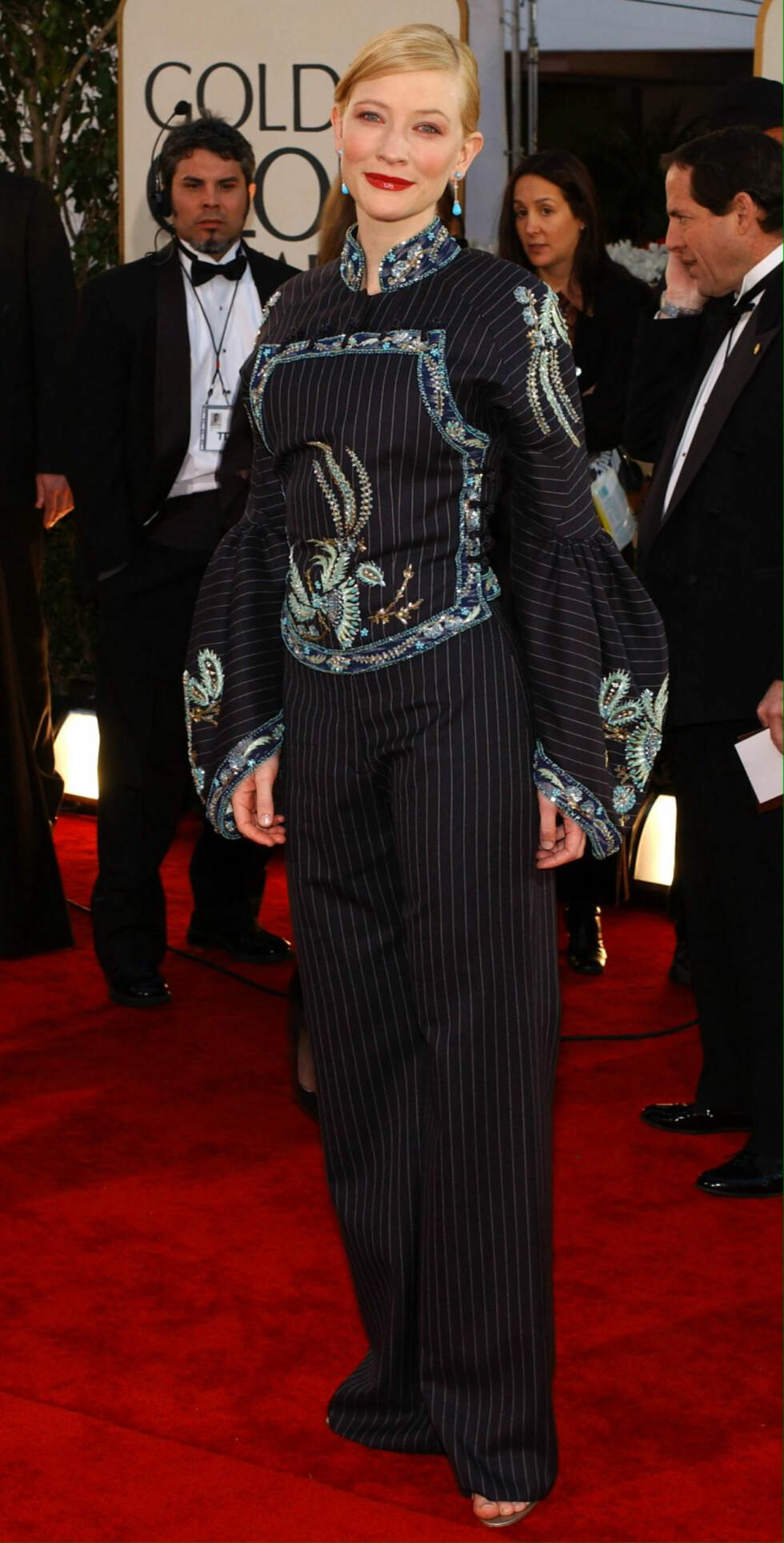 <strong>VERST KLEDD:</strong> Cate Blanchett i 2002. Foto: EPA