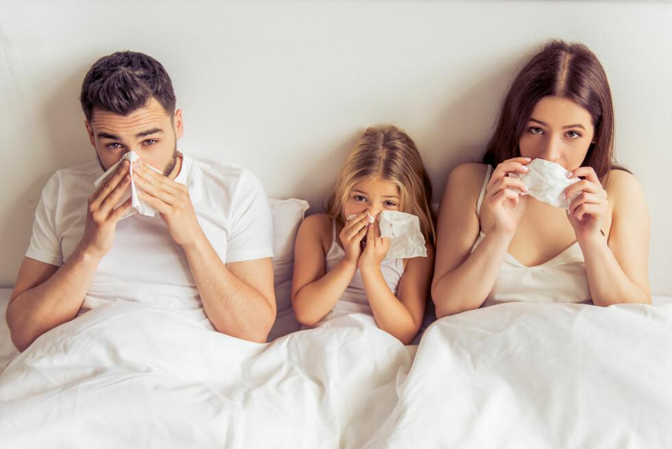 <strong>SYKDOM:</strong> Årets influensautbrudd startet tidligere enn det pleier og mange nordmann har hatt influensa de siste ukene.  Foto: Shutterstock / George Rudy