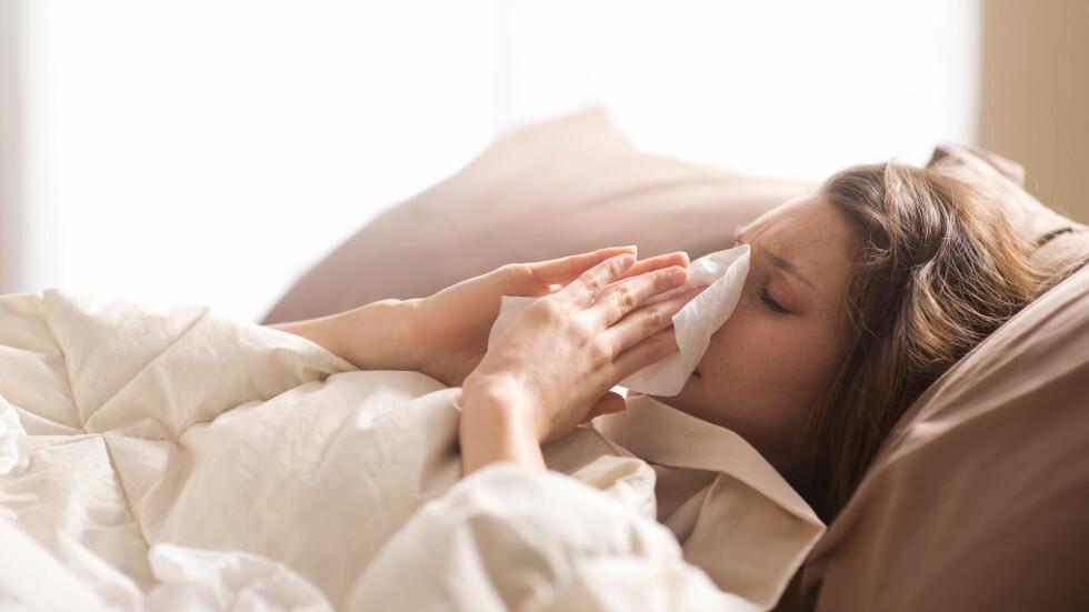 <strong>INFLUENSA:</strong> Heldigvis viser overvåkingen så langt i sesongen at influensaaktiviteten nådde et foreløpig toppunkt i romjulen. Foto: Shutterstock / Stokkete