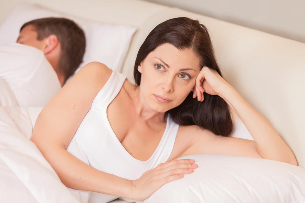 TRØTT: Et problem mange par opplever om kvelden er at den ene av dem, eller begge, er for slitne til å ha sex.  Foto: BlueSkyImages - Fotolia