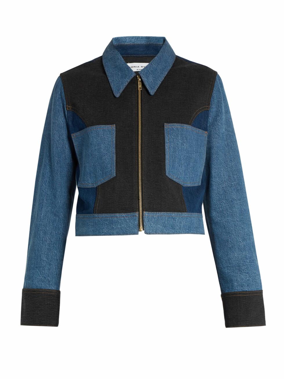 Jakke fra Sonia Rykiel via Matchesfashion.com | kr 2365 | http://www.matchesfashion.com/intl/products/Sonia-Rykiel-Point-collar-patchwork-cotton-blend-denim-jacket-1066826