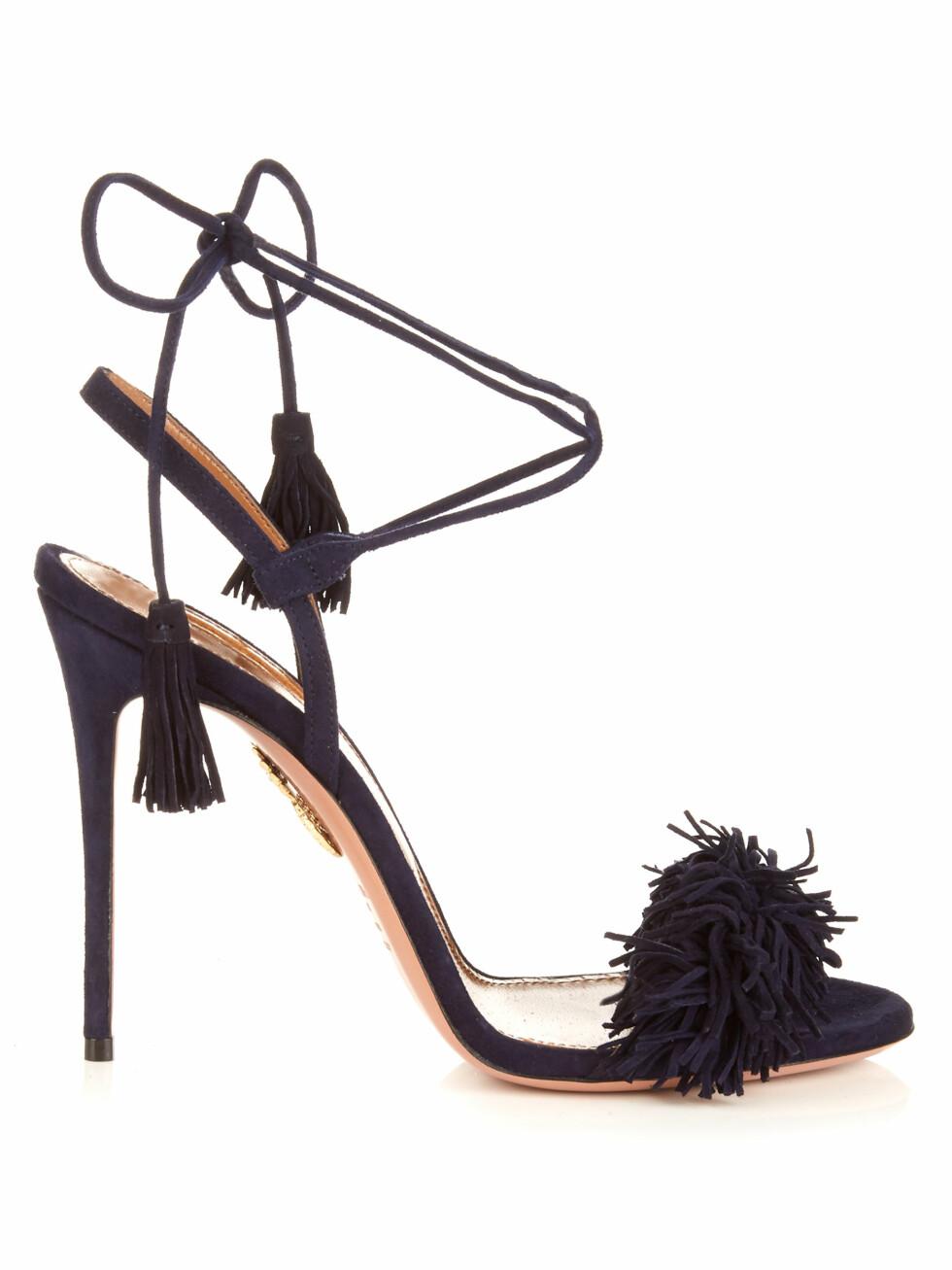 Hæler fra Aquazzura via Matchesfashion.com | kr 2600 | http://www.matchesfashion.com/intl/products/Aquazzura-Wild-Thing-suede-fringed-sandals-1052536