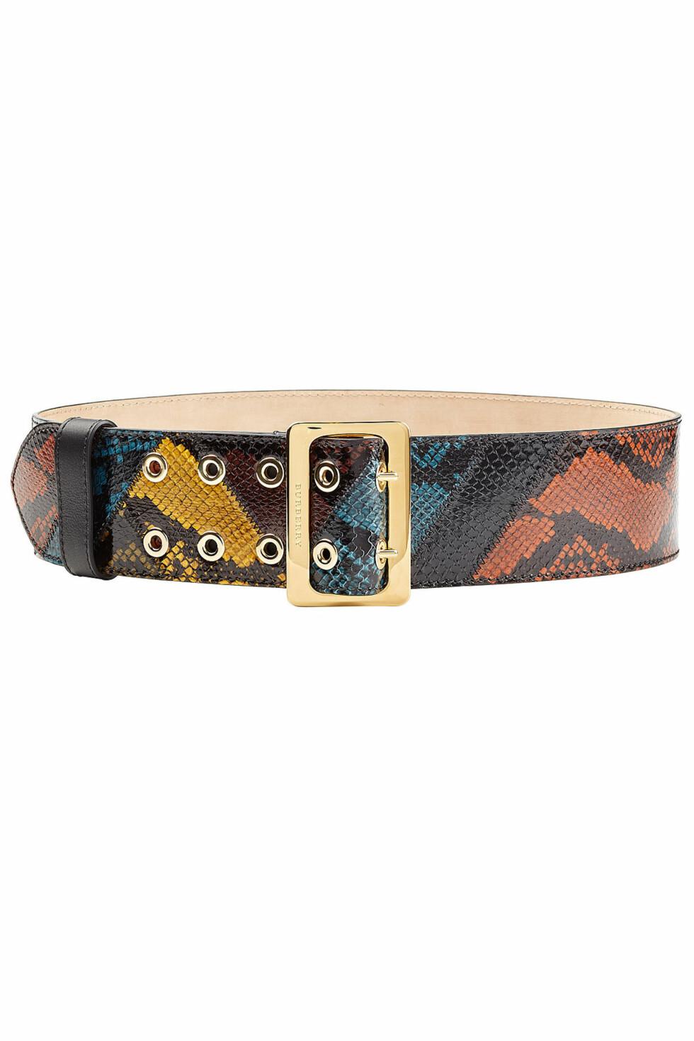 Belte fra Burberry via Stylebop.com | kr 4864 | https://www.stylebop.com/en-us/women/snakeskin-belt-258937.html