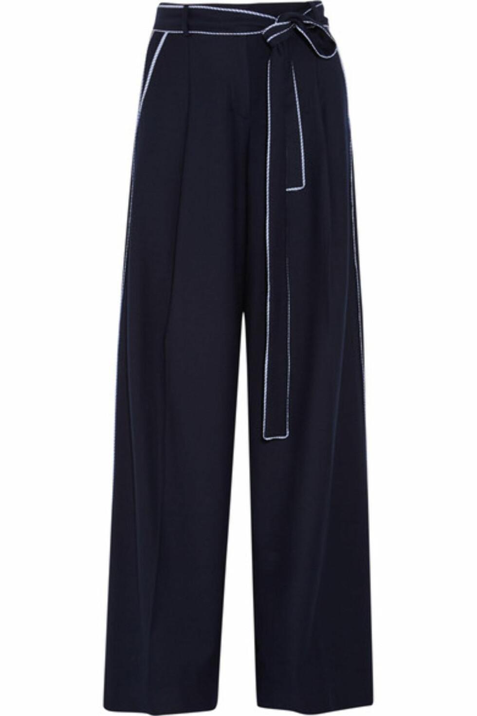 Bukse fra J.CREW via Net-a-porter.com | kr 1537 | https://www.net-a-porter.com/no/en/product/743509/j_crew/jitney-wool-blend-flannel-wide-leg-pants