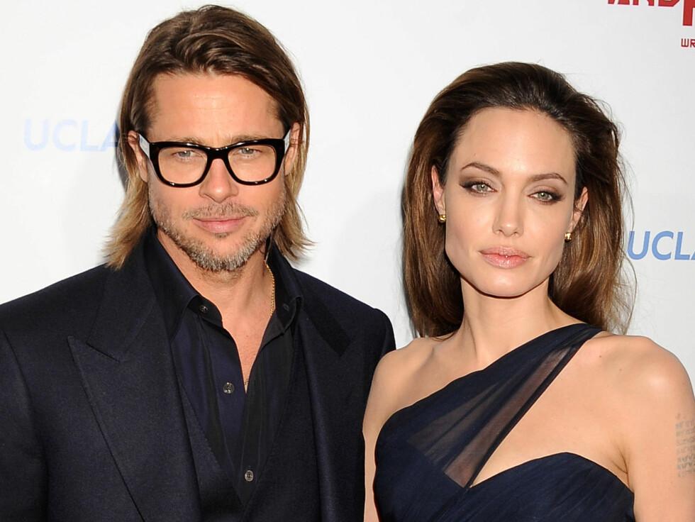 BRAD PITT OG ANGELINA JOLIE: Hollywood-paret får hvert til sitt etter 11 år. Sjokknyheten ble kjent i september.  Foto: NTB Scanpix