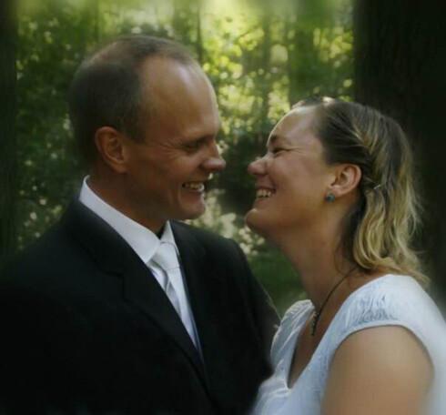 BRUD: I 2007 giftet Solveig seg med sin Jarl. Siden da har hun ikke vært innlagt.  Foto: Privat