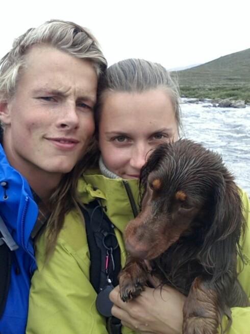 SPORTY PAR: Til KK.no sier Anja Johansen at hun og Lavrans Solli deler se samme interessene - som å holde seg i aktivitet, dra på teltturer og å reise.  Foto:  Foto: Privat