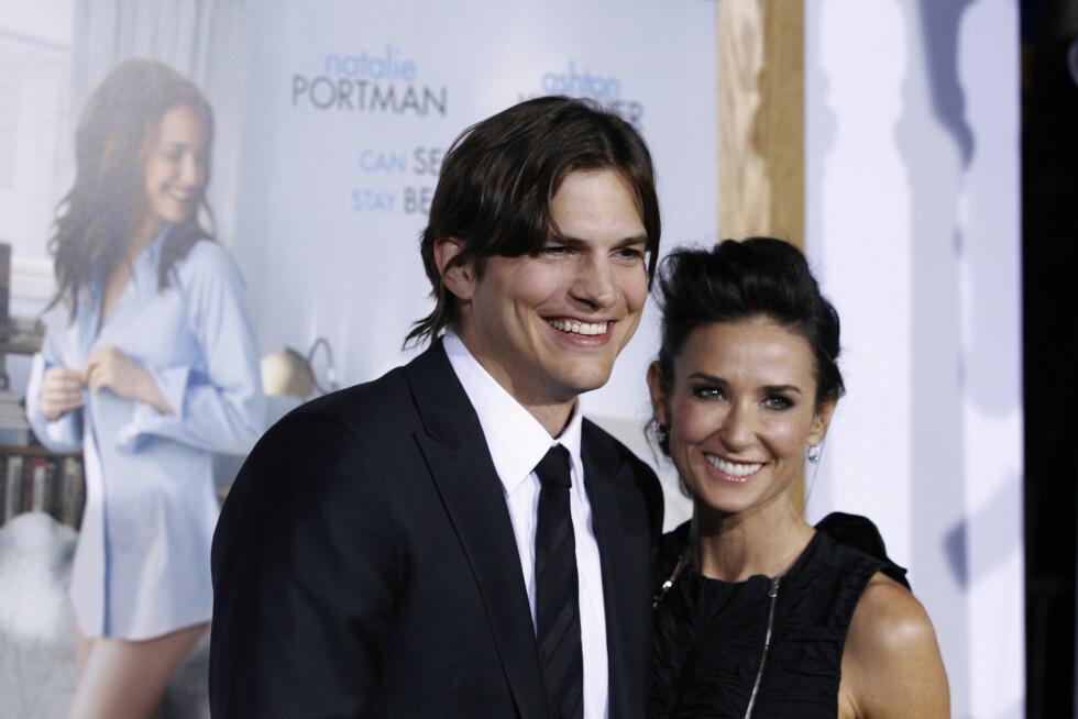 FALT FOR ELDRE KVINNE: Skuespiller Ashton Kutcher falt for kollega Demi Moore en gang i tiden, til tross for at aldersforskjellen var stor. Men forholdet holdt ikke. Foto: Ap