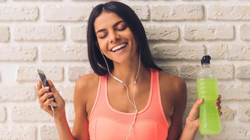 TRENINGSMUSIKK: Ifølge Spotify er det vi i Norge som hører aller mest på treningsmusikk i verden. Og det er kanskje ikke så rart?  Foto: Shutterstock / George Rudy