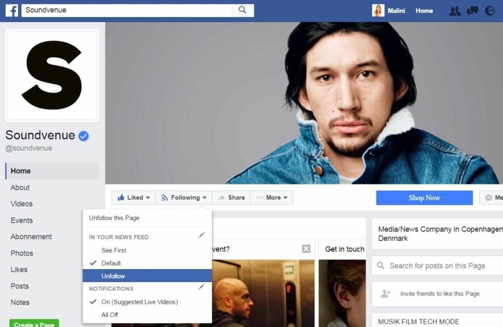 Foto:  Foto: Skjermdump Facebook