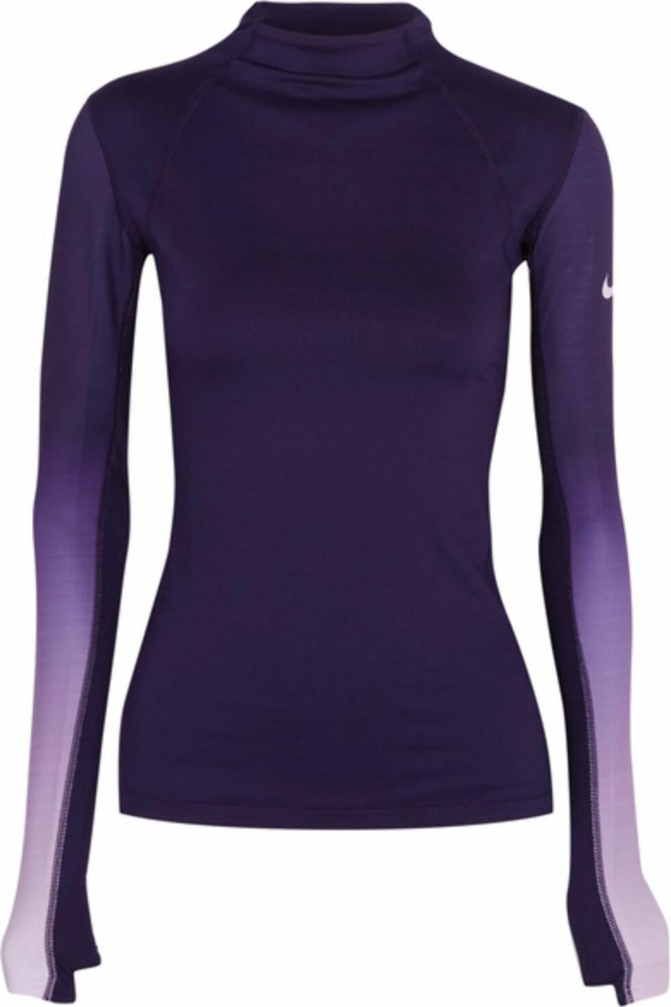 Overdel fra Nike via Net-a-porter.com | kr 651 | https://www.net-a-porter.com/se/en/product/762315/nike/pro-hyperwarm-ombre-dri-fit-stretch-jersey-top