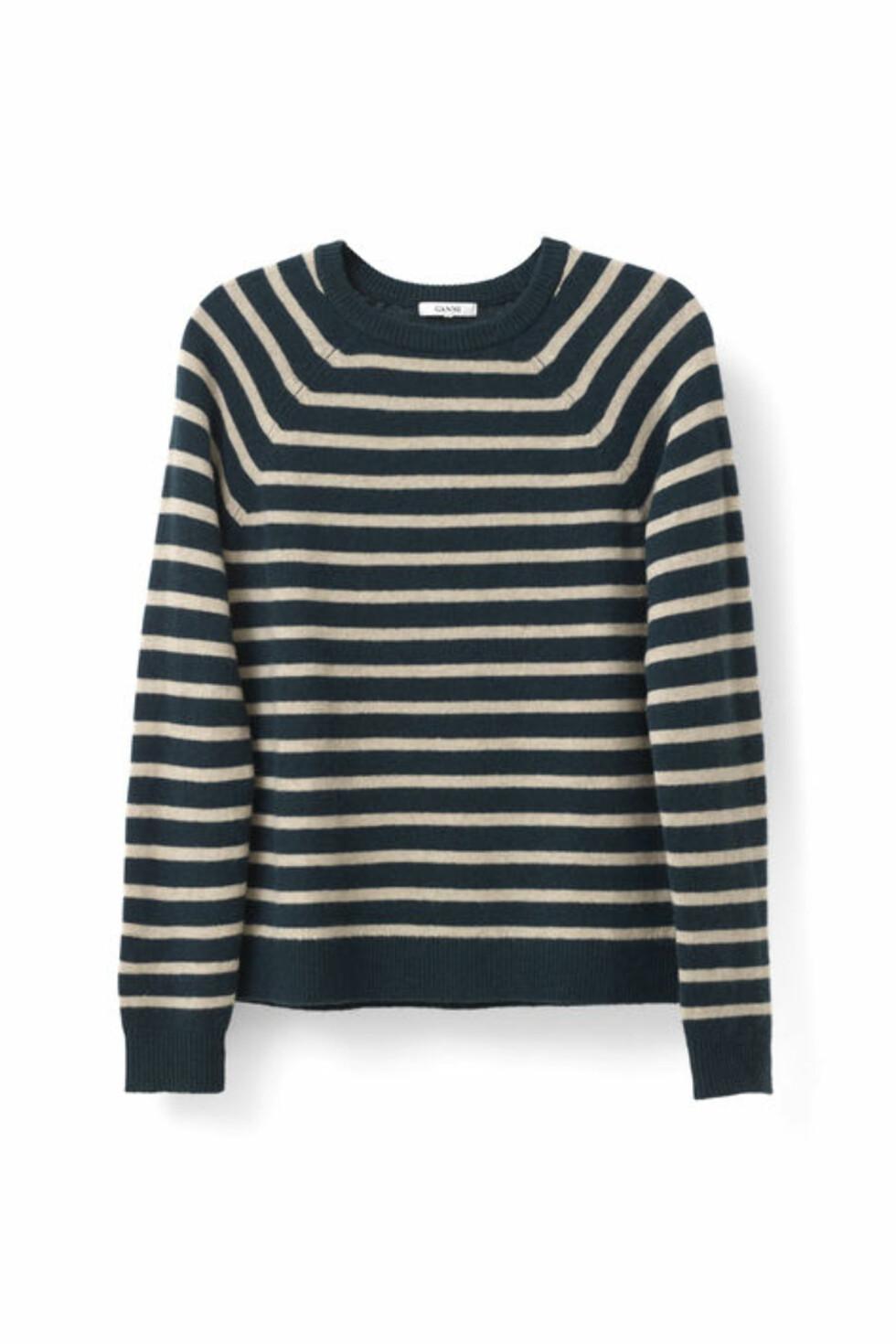 Genser fra Ganni | kr 1299 | http://www.ganni.com/shop/shirts-and-blouses/mercer-pullover/K0931.html?dwvar_K0931_color=Cuban%20Melange%2FBlack