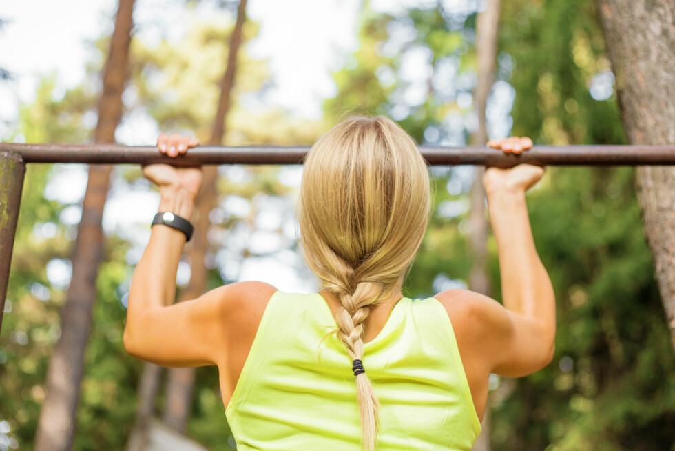 EGEN KROPPSVEKT: Trening med egen kroppsvekt er morsom og bra trening!  Foto: Shutterstock / Kaspars Grinvalds