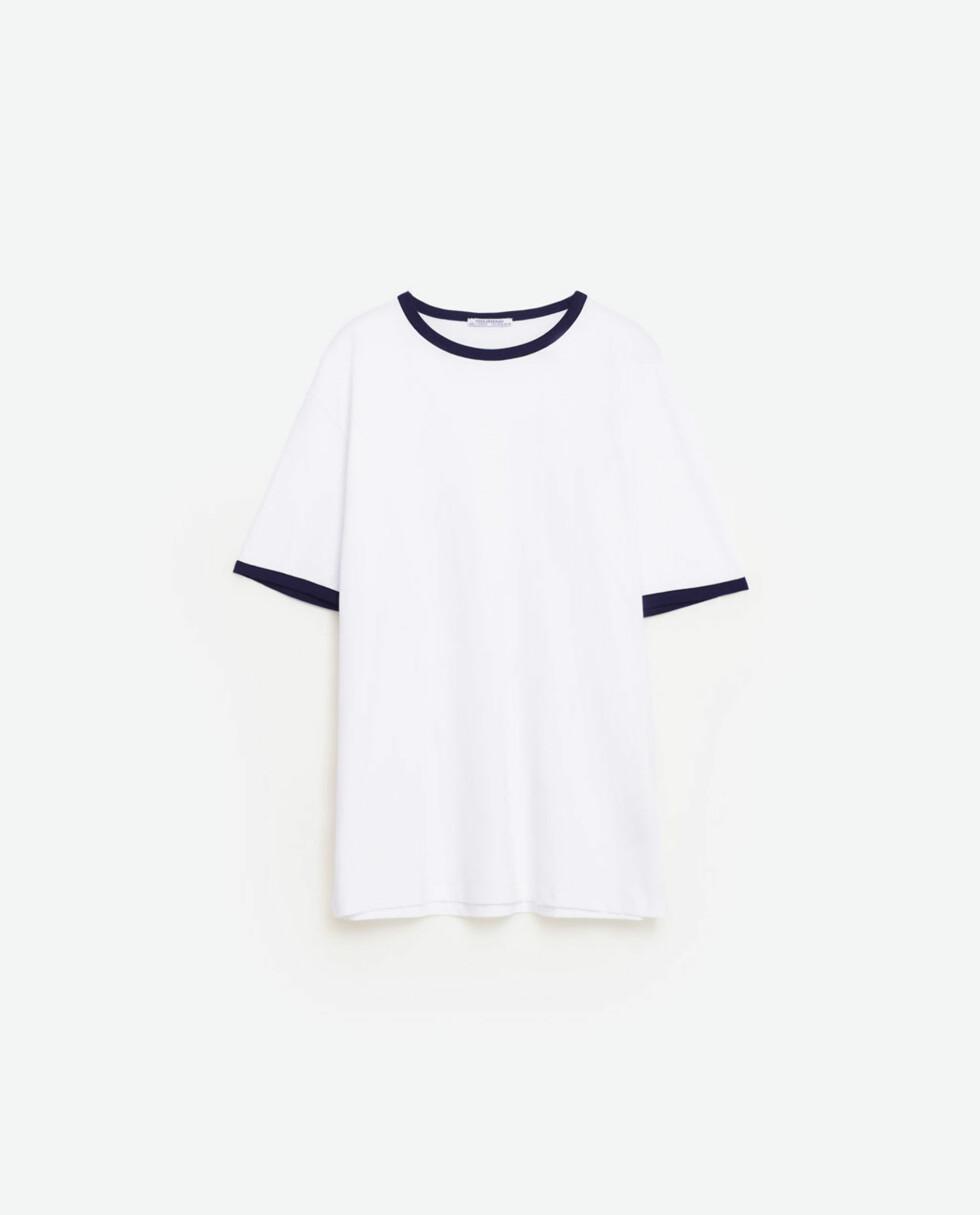 <strong>T-skjorte fra Zara | kr 99 | http:</strong>//www.zara.com/no/no/trf/t-skjorter/ungendered-t-skjorte-med-kontrast-c269214p3711645.html
