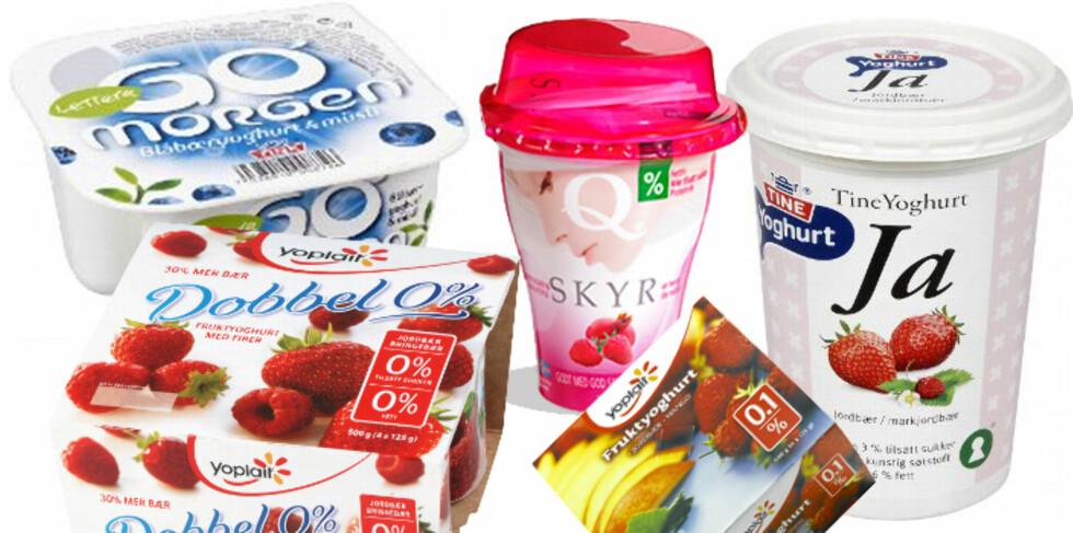 MAGRE ALTERNATIVER: Om du spiser mye meieriprodukter kan det være lurt å velge de magre alternativene, da disse har et lavere fettinnhold.  Foto: Per Ervland