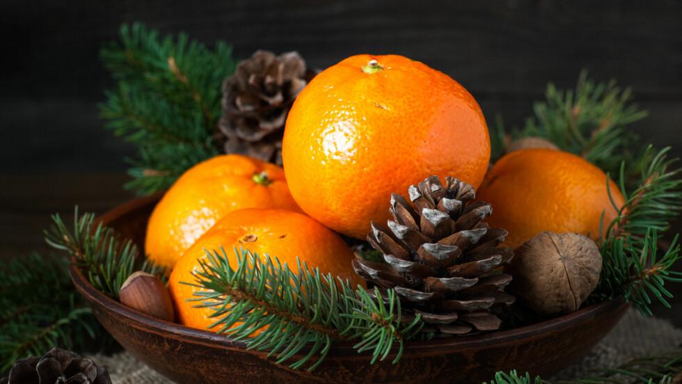 KLEMENTIN ELLER MANDARIN: Hva er det egentlig vi spiser i jula, klementiner eller mandariner?  Foto: Shutterstock / nadianb