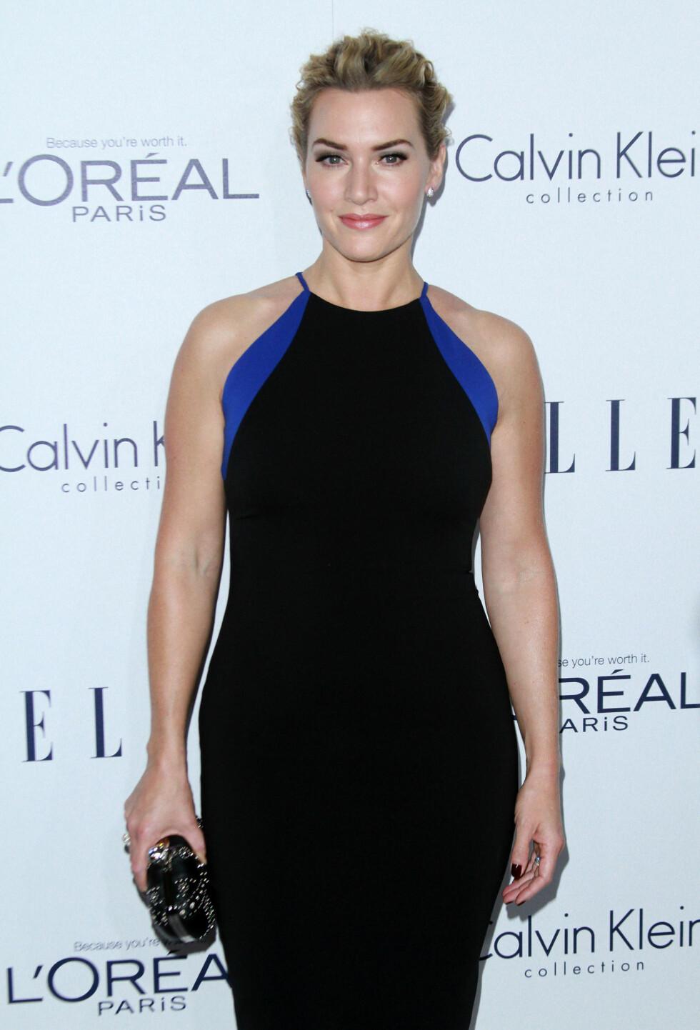 STILIG DAME: Kate Winslet er stadig å se i de lekreste kjolene. Nå forteller hun om den gangen en av dem løsnet i et bursdagsselskap. Foto: wenn.com