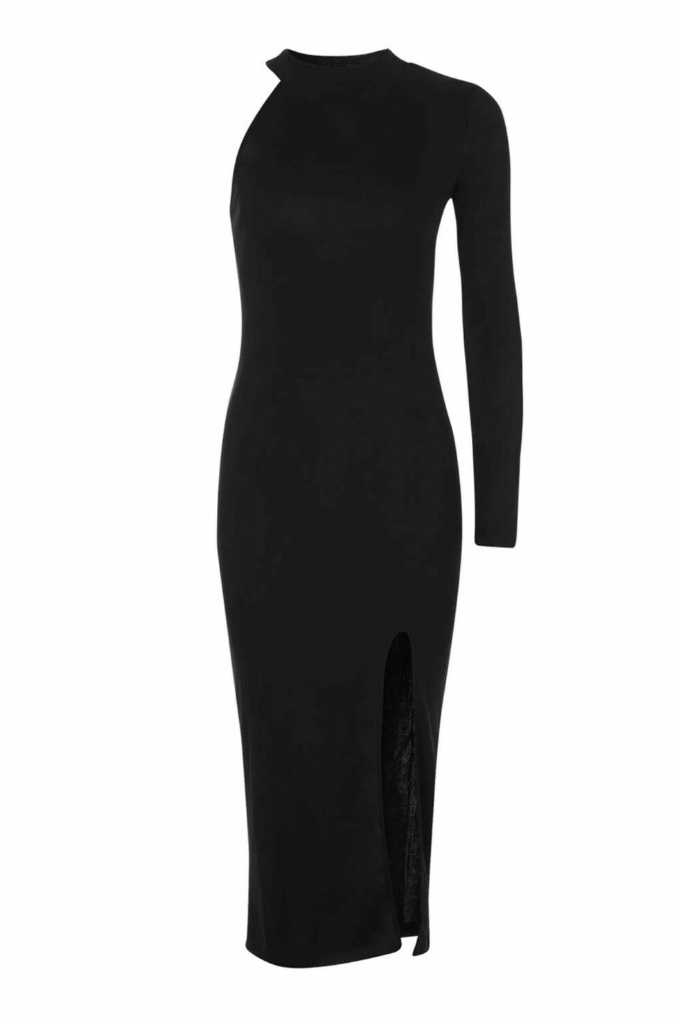 <strong>Kjole fra Topshop   kr 338   http:</strong>//www.topshop.com/en/tsuk/product/clothing-427/dresses-442/one-shoulder-ribbed-midi-dress-5881067?bi=220&ps=20