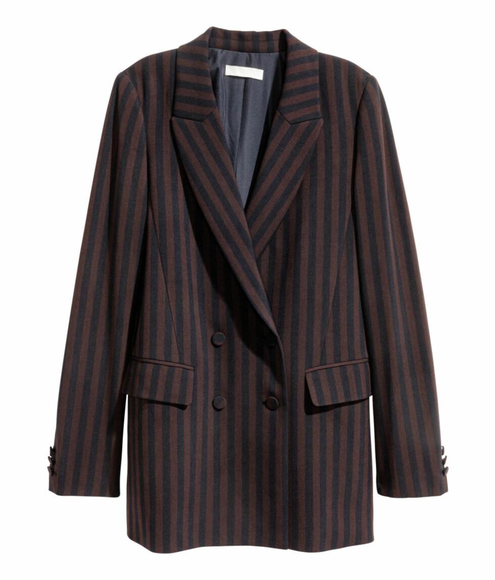 <strong>Dobbeltspent blazer fra H&M | kr 399 | http:</strong>//www.hm.com/no/product/56282?article=56282-A