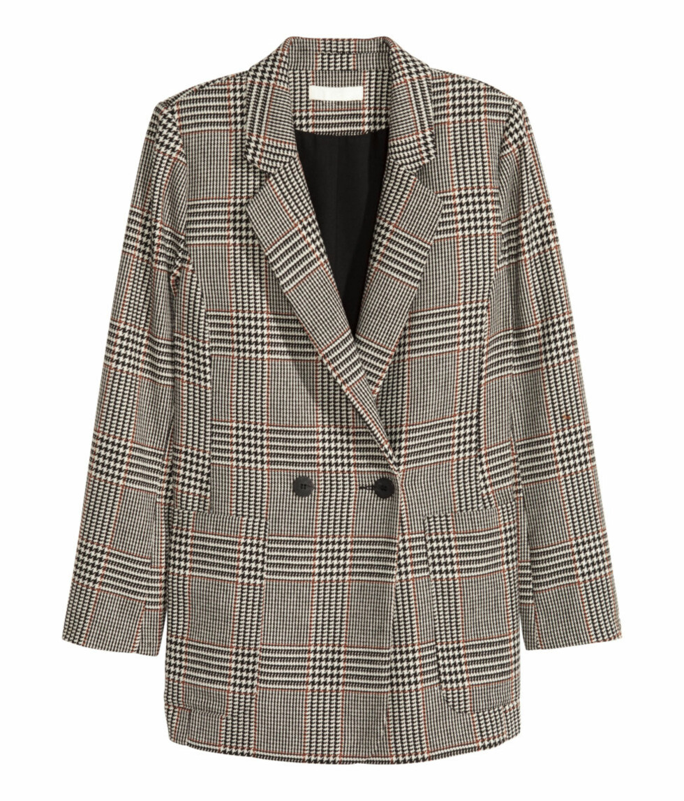 <strong>Rutete blazer fra H&M | kr 499 | http:</strong>//www.hm.com/no/product/55297?article=55297-A