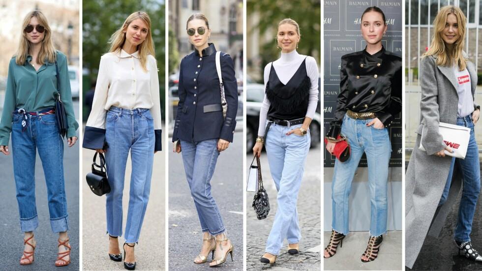 <strong>PERNILLE TEISBÆK:</strong> Denne danske jenta kan å style et par jeans. La deg inspirere! Foto: Scanpix