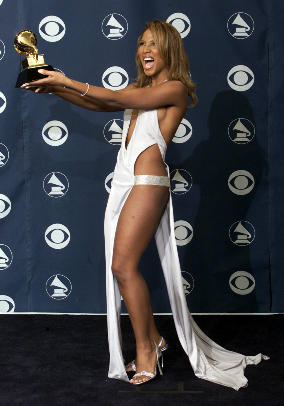 Toni Braxton, Grammy Awards 2001. Foto: REUTERS