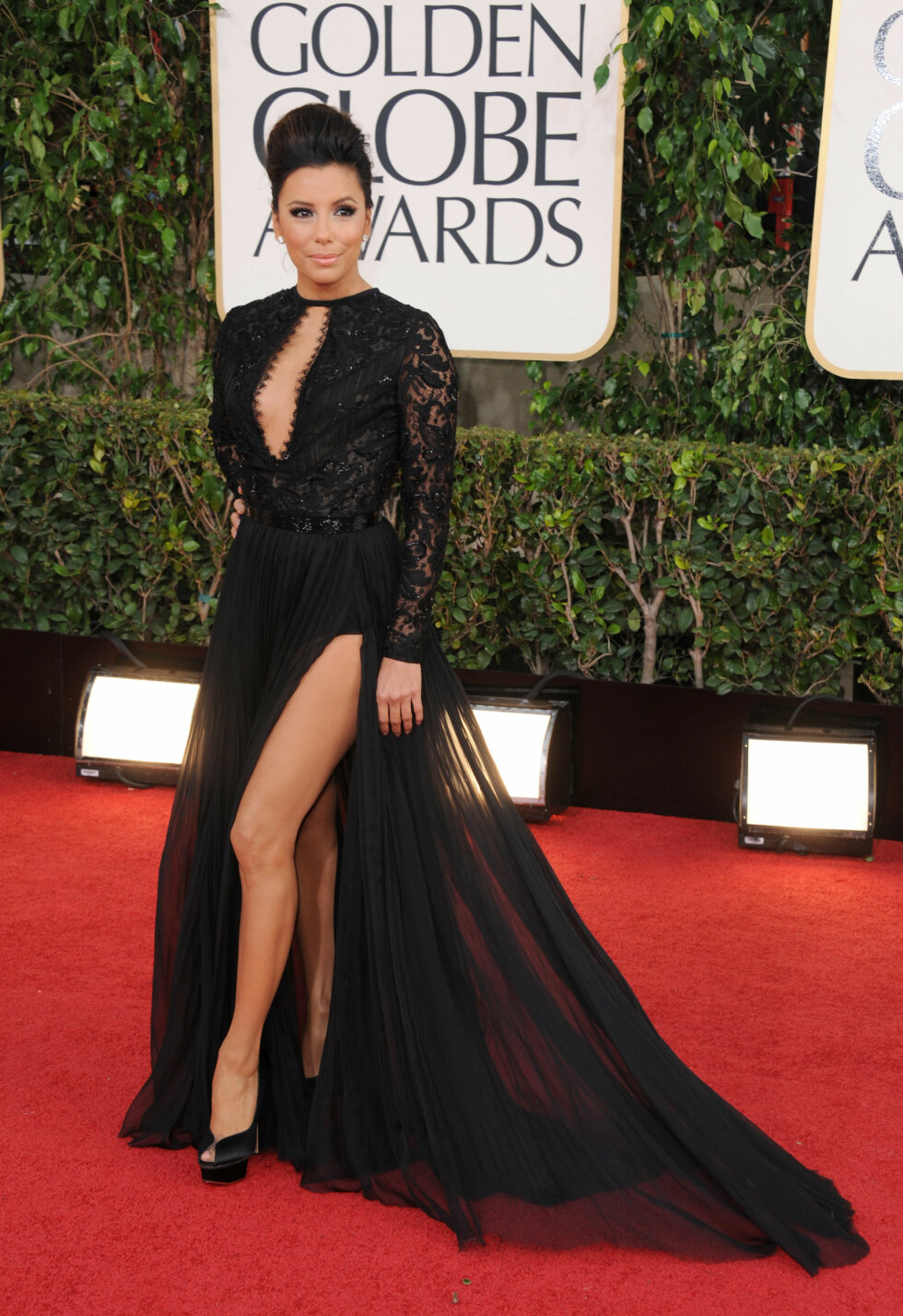 Eva Longoria, Golden Globe Awards, 2013. Foto: Ap