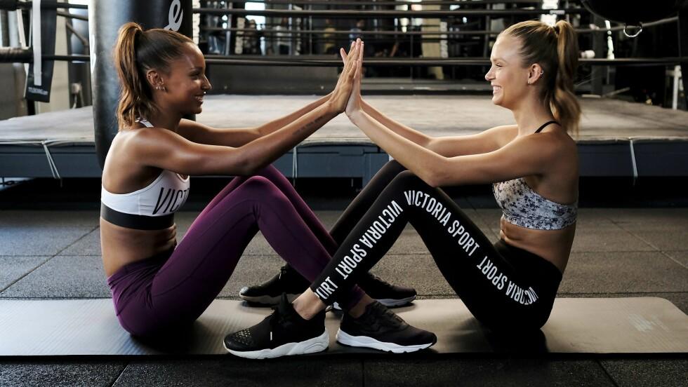 VICTORIA'S SECRET SHOW: Supermodellene trener knallhardt for å komme i form til det prestisjetunge moteshowet.  Foto: Afp